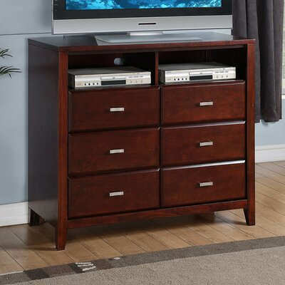 Acropolis 6 Drawer Media Chest
