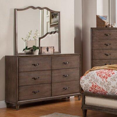 Oriane 6 Drawer Double Dresser with Mirror