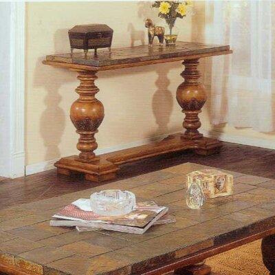 Cheap Alpine Furniture Rockchester Sofa Table With Natural Slate Tiles (QAA1006)