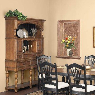 Cheap Alpine Furniture Sonoma Buffet with Hutch in Caramel (QAA1426)