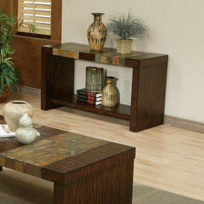 Cheap Alpine Furniture Sedona Sofa Table With Natural Slate Tiles (QAA1115)