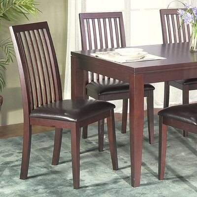 Alpine Furniture Anderson Side Chairs With Bicast Cushion