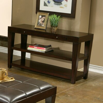 Cheap Alpine Furniture Wilmington Sofa Table With 2 Shelves And Pull Out Tray (QAA1124)