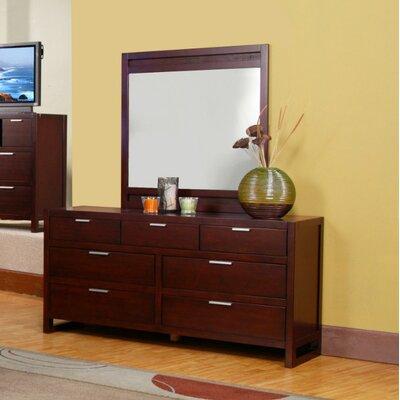 Furniture Bedroom Furniture Dresser Mirror Merlot Finish Dresser Mirror