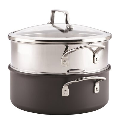 5-qt. Hard-Anodized Aluminum Round Dutch Oven with Steamer