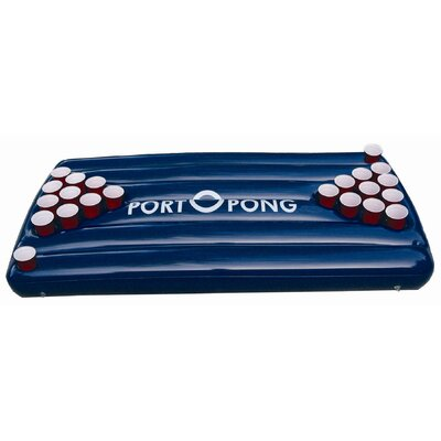 Portopong inflatable beer pong table blue