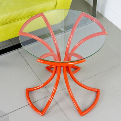 Flower End Table Finish: Orange