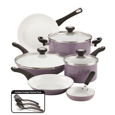 Purecook 9 Piece Non-Stick Cookware Set Color: Lavender 17555