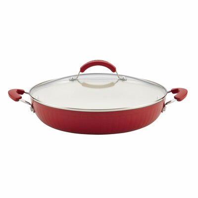 "Ceramic Cookware 12"" Non-Stick Skillet with Lid 16014"