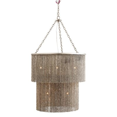 James 9-Light Drum Chandelier Finish: Antique Nickel
