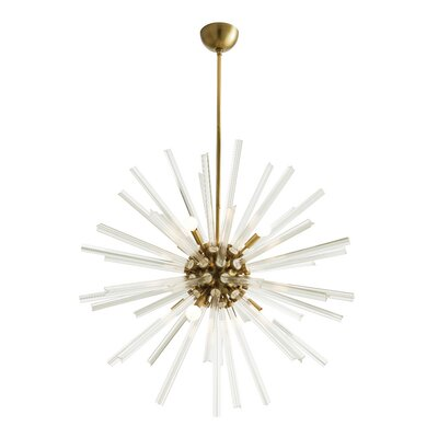 Hanley 8-Light Sputnik Chandelier Finish: Antique Brass