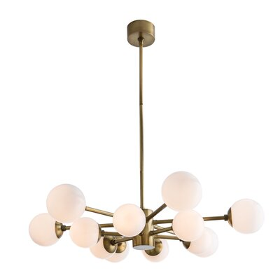 Karrington 12-Light Sputnik Chandelier Color: Antique Brass