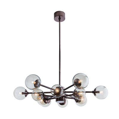 Karrington 12-Light Sputnik Chandelier Finish: Brown Nickel