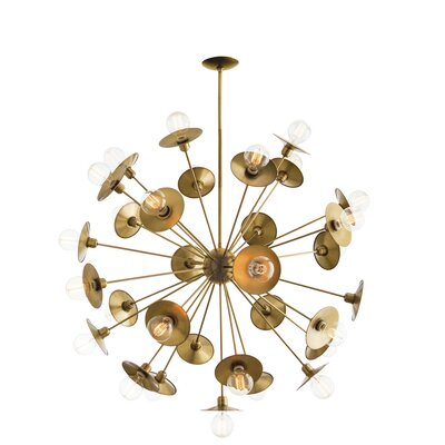 Keegan 30-Light Sputnik Chandelier Color: Antique Brass