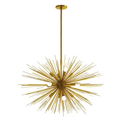 Zanadoo Gold 12-Light Sputnik Chandelier Finish: Antique Brass