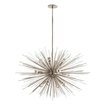 Zanadoo Gold 12-Light Sputnik Chandelier Finish: Polished Nickel