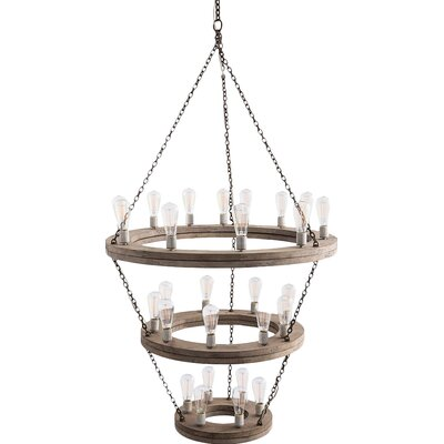 Geoffrey 27-Light Candle-Style Chandelier