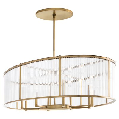 Windsor Smith for Arteriors 8-Light Crystal Chandelier Finish: Antique Brass