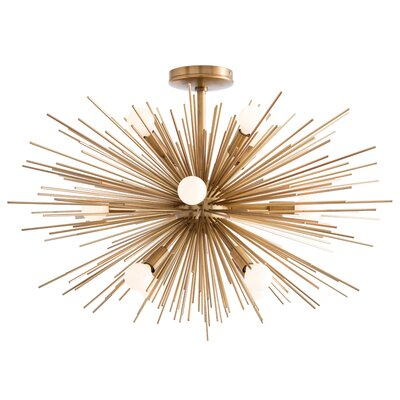 Zanadoo 12-Light Semi Flush Mount Finish: Antique Brass