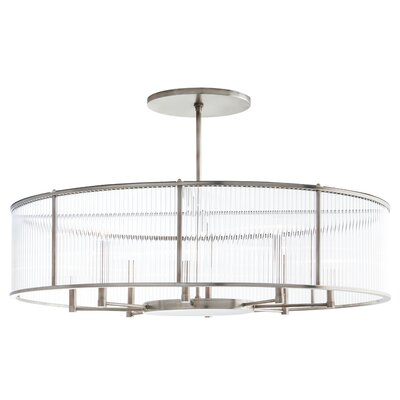 Windsor Smith for Arteriors 8-Light Crystal Chandelier Color: Vintage Silver