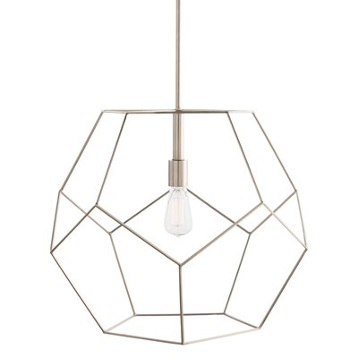 Mara 1-Light Geometric Pendant Color: Polished Nickel