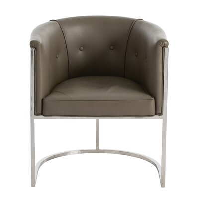 Calvin Genuine Leather Upholstered Dining Chair