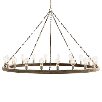 Geoffrey 20-Light Candle-Style Chandelier