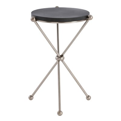 Chloe End Table Finish: Vintage Silver/Black