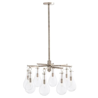 Sabine 8-Light Semi Flush Mount Finish: Polished Nickel
