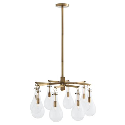 Sabine 8-Light Semi Flush Mount Finish: Antique Brass
