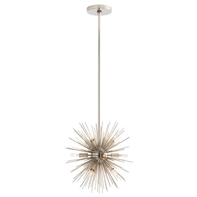12-Light Semi Flush Mount Finish: Polished Nickel
