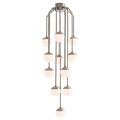 13-Light LED Cascade Pendant Finish: Vintage Silver