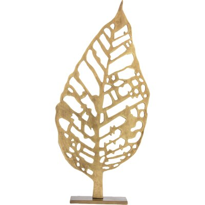 Hyde Laser Cut Leaf Sculpture Size: 21.5 H x 10.5 W x 4 D