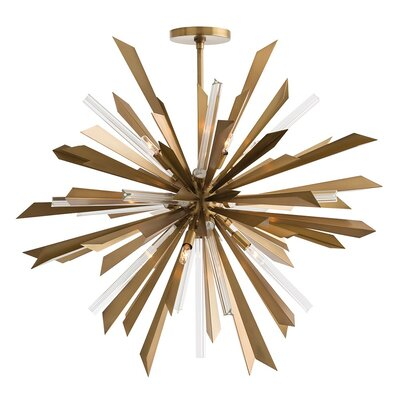 Waldorf 8-Light Sputnik Chandelier Color: Antique Brass