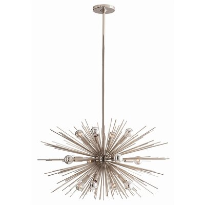 Zanadoo 12-Light Geometric Pendant Color: Polished Nickel
