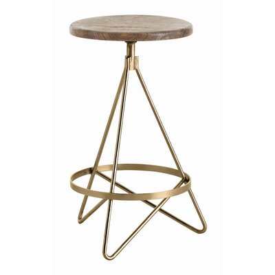 Wyndham 25 Swivel Bar Stool Color: Vintage Brass
