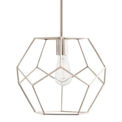 Mara 1-Light Geometric Pendant Finish: Polished Nickel