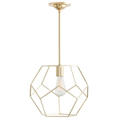 Mara 1-Light Geometric Pendant Color: Polished Brass