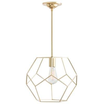 Mara 1-Light Geometric Pendant Finish: Polished Brass