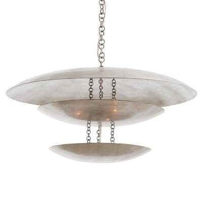 Florko 8-Light Shaded Chandelier Finish: Silver Leaf