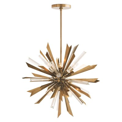 Waldorf 8-Light Sputnik Chandelier Finish: Antique Brass