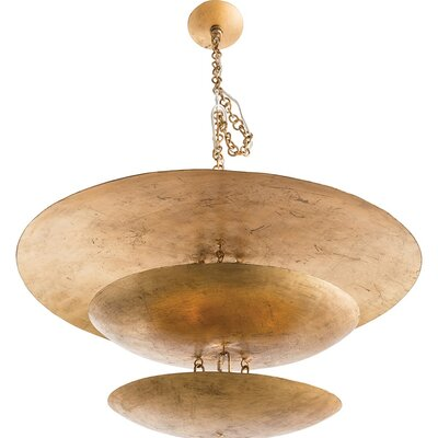 Florko 8-Light Shaded Chandelier Finish: Gold Leaf