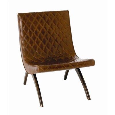Danforth Quilted Leather Side Chair Upholstery: Chestnut, Feet: Mahogany