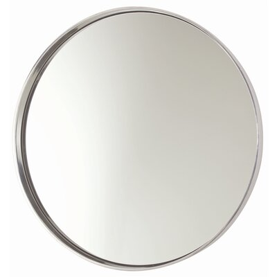 Ollie Polished Aluminum Wall Mirror 6497