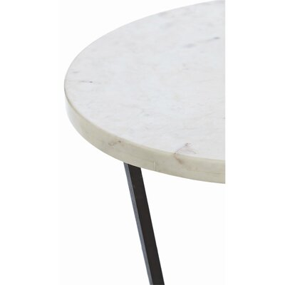 Petra Marble / Iron End Table