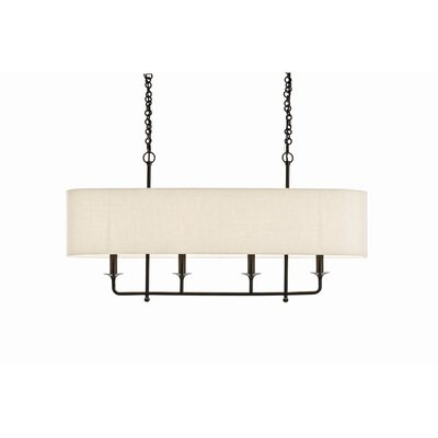 4-Light Kitchen Island Pendant Color: Dark Bronze/White