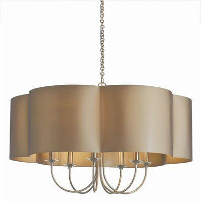 Rittenhouse Large 6-Light Shaded Chandelier Finish: Antique Silver