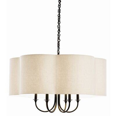 Rittenhouse Large 6-Light Shaded Chandelier Finish: Bronze