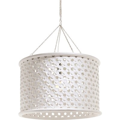Jarrod 1-Light Drum Pendant Size: Large