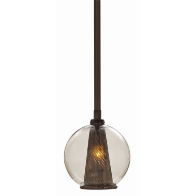 Image of 1-Light Globe Pendant Color: Brown Nickel / Smoke, Size: Large